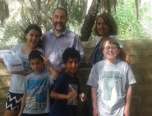 The Nourse family plus David.
